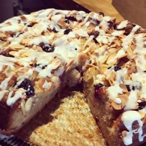 Almond, Pear and Blackberry Cake